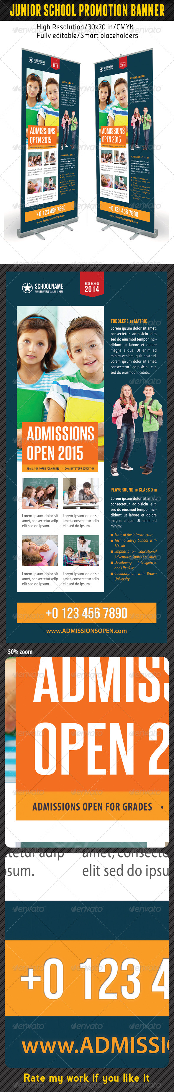 Junior School Promotion Banner Template 09 - Signage Print Templates