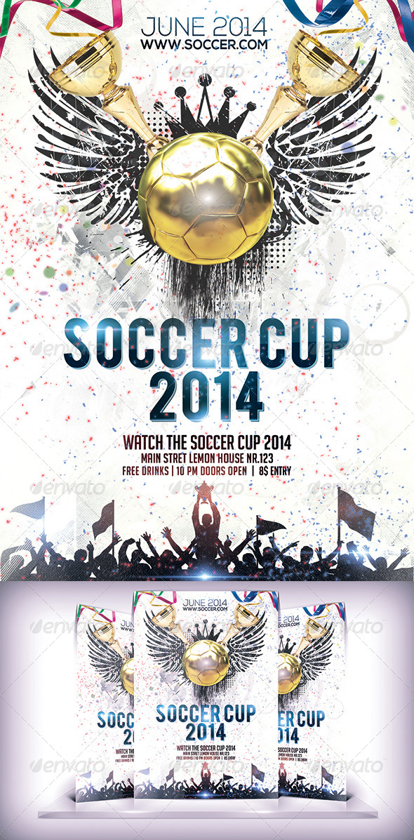 Soccer Cup 2014 Flyer - Flyers Print Templates
