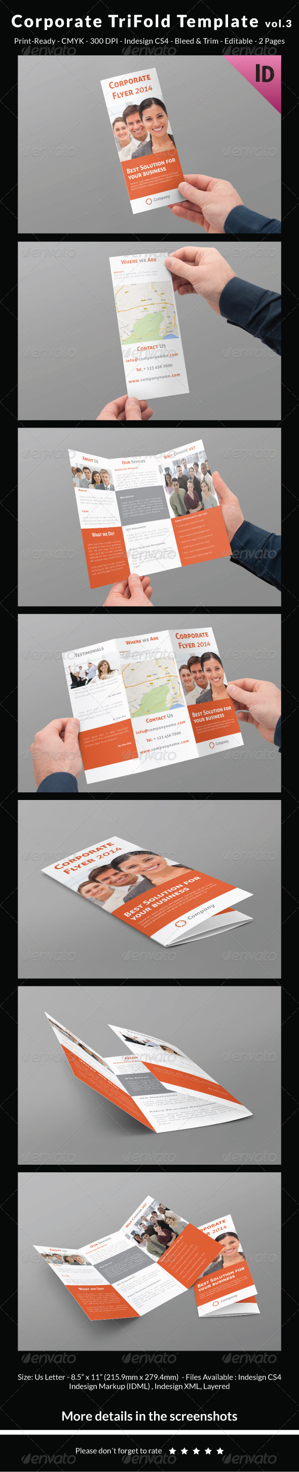 Corporate Trifold Template vol.3 - Corporate Brochures