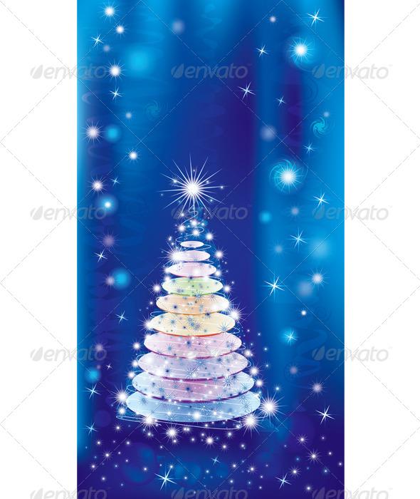 Illuminated Christmas Tree - Christmas Seasons/Holidays
