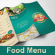 Trifold Restaurant Menu - GraphicRiver Item for Sale