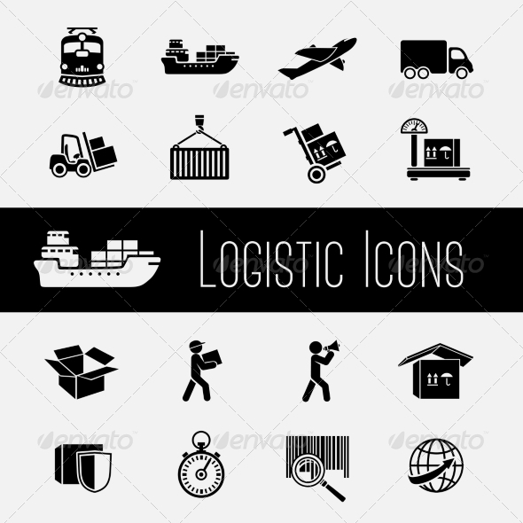 Supply Chain Icons Set - Web Elements Vectors