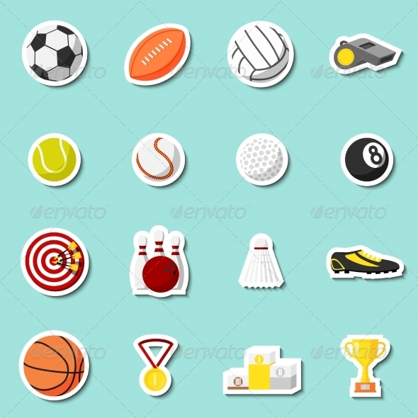 Sports Stickers Set - Sports/Activity Conceptual