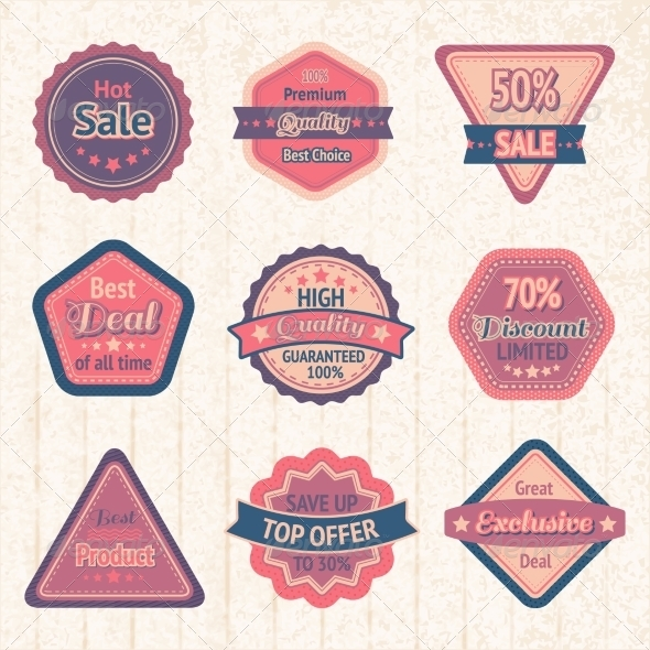 Labels and Badges - Retail Commercial / Shopping