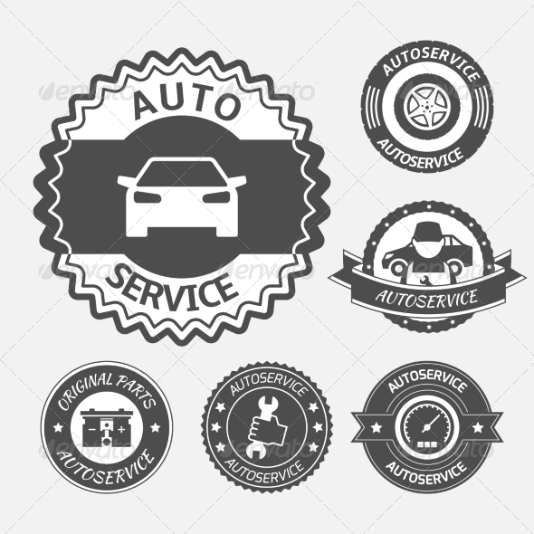 Auto Service - Web Elements Vectors