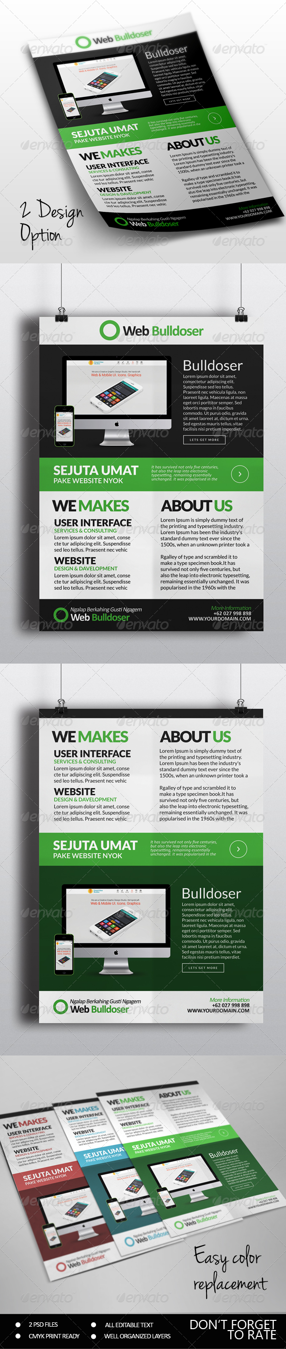 Premuim Website Design Flyer - Commerce Flyers