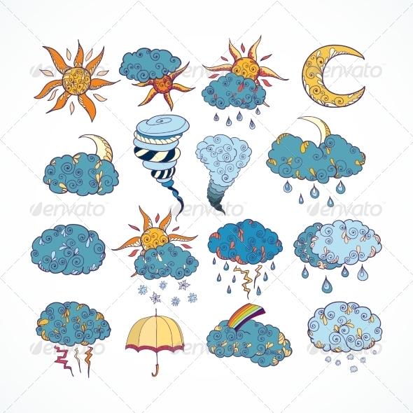 Weather Forecast Elements - Decorative Symbols Decorative
