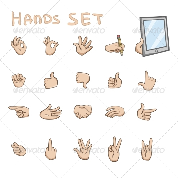 Hands Gestures Icons - Web Elements Vectors
