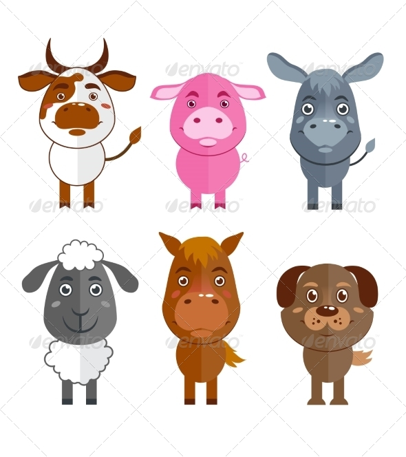 Wild and Domestic Animal Icons  - Animals Characters
