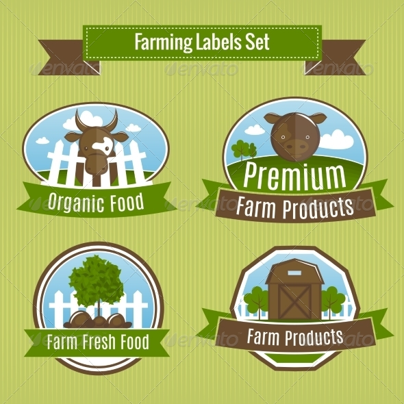 Agriculture Badges - Industries Business