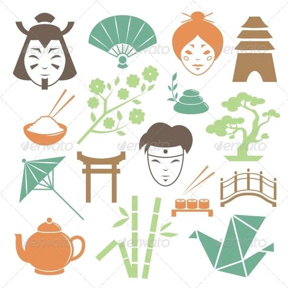 Japanese Culture Elements - Travel Conceptual