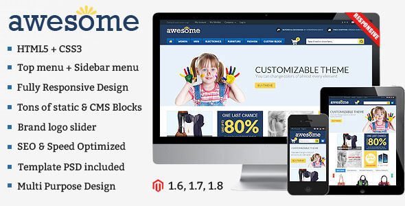 Awesome – Responsive Multipurpose Magento Theme