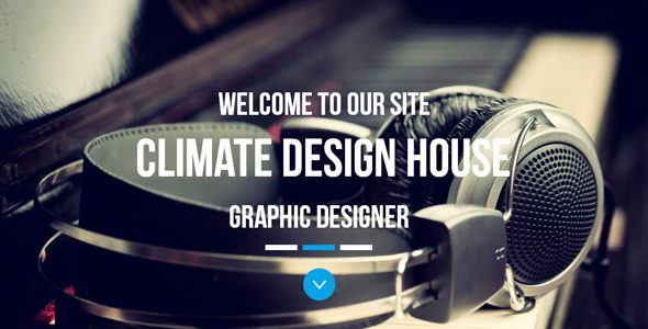 Climate - One Page Parallax Muse Template - Corporate Muse Templates
