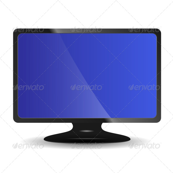Computer Monitor on White - Computers Technology