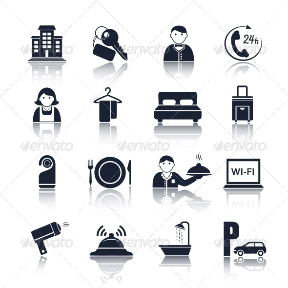 Hotel Icons - Web Elements Vectors