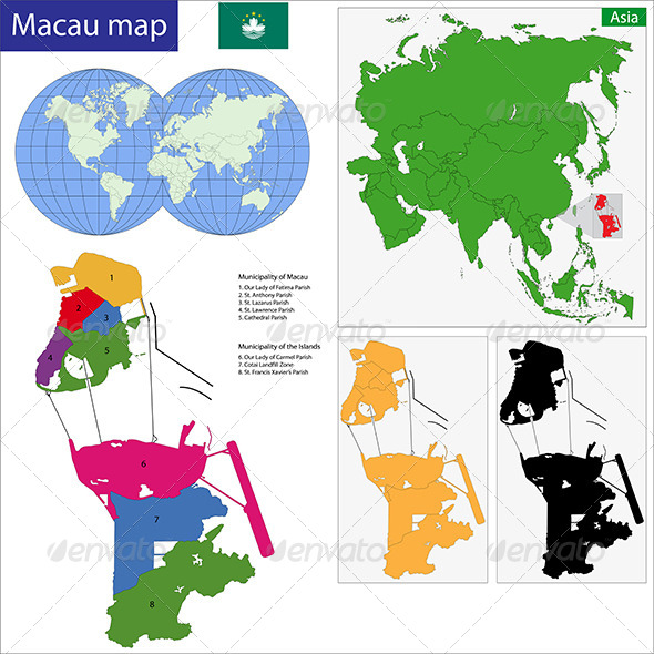 Macau Map - Travel Conceptual