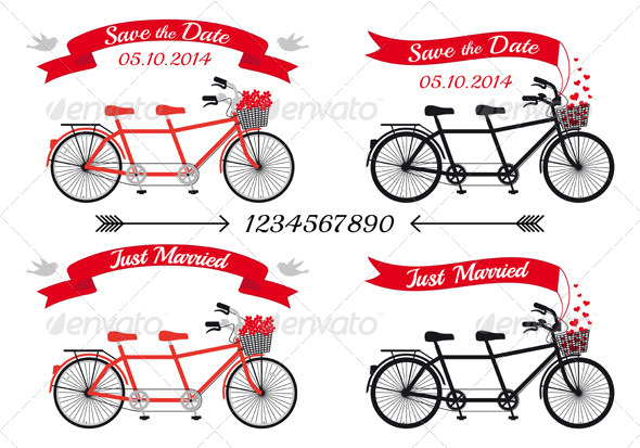 Wedding Tandem Bicycles - Weddings Seasons/Holidays