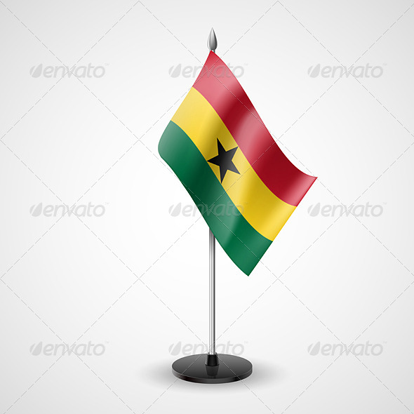 Table Flag of Ghana - Miscellaneous Vectors