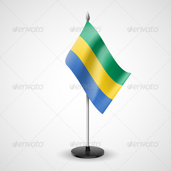 Table Flag of Gabon - Miscellaneous Vectors