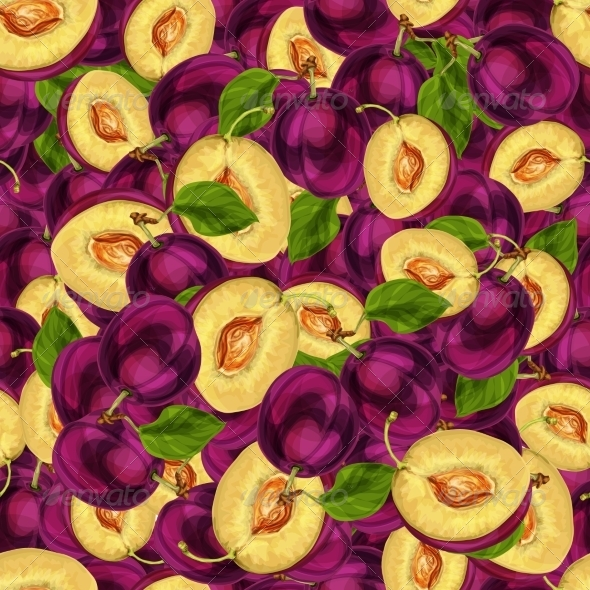 Plum Pattern - Backgrounds Decorative