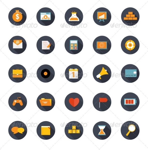 Set of Flat Icons Vector Illustration - Web Technology