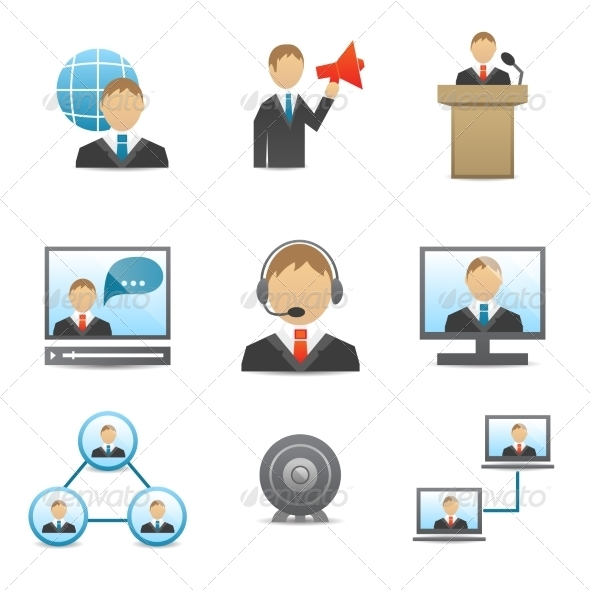 Business People Icons Set - Business Icons