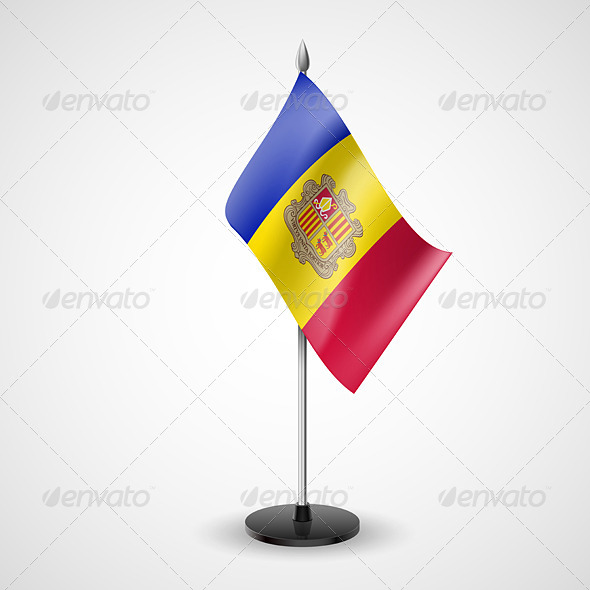 Table Flag of Andorra - Miscellaneous Vectors