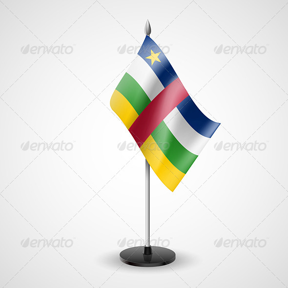 Table Flag of Central African Republic - Miscellaneous Vectors