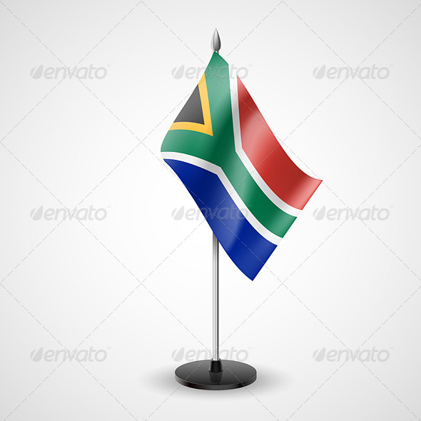 Table Flag of South Africa - Miscellaneous Vectors