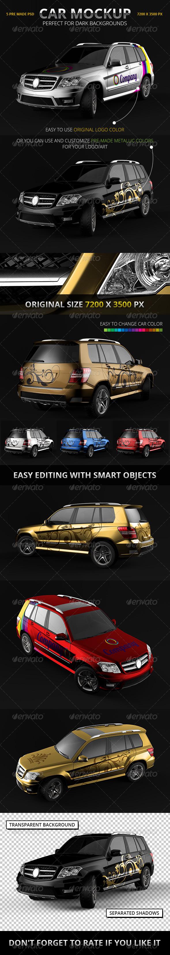 Car Branding Mockup (SUV) - Vehicle Wraps Print
