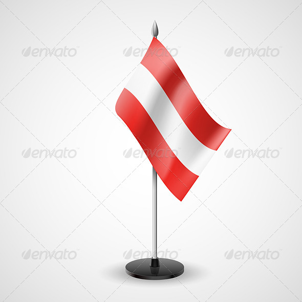 Table Flag of Austria - Miscellaneous Vectors