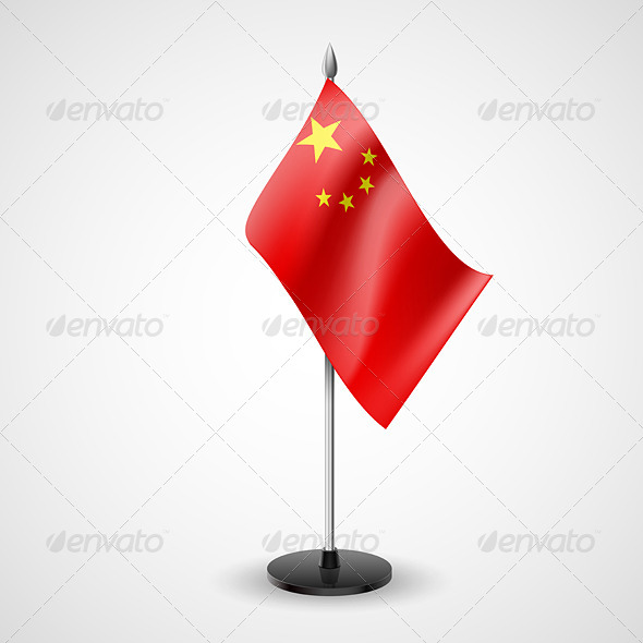 Table Flag of China - Miscellaneous Vectors