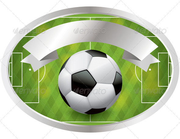 Soccer Football Badge and Banner - Sports/Activity Conceptual