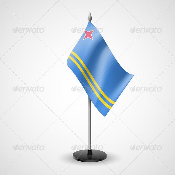 Table Flag of Aruba - Miscellaneous Vectors