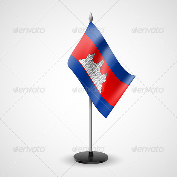 Table Flag of Cambodia - Miscellaneous Vectors