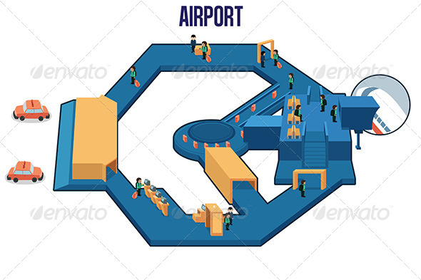 Inside of an Airport - Travel Conceptual