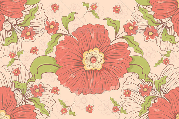 Flowers Pattern - Backgrounds Decorative