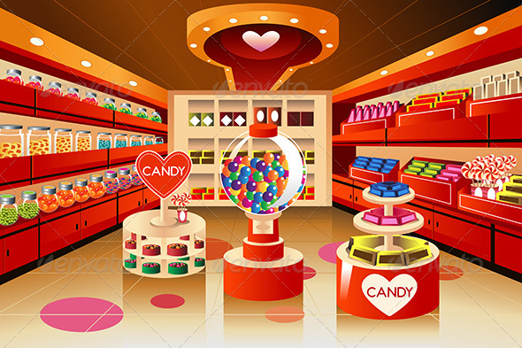 Grocery Store: Candy Section - Retail Commercial / Shopping