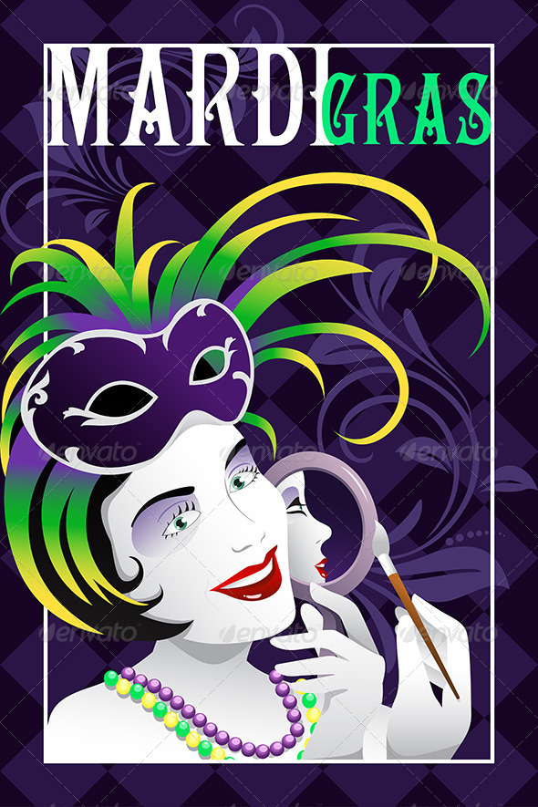 Mardi Gras Poster - Backgrounds Decorative