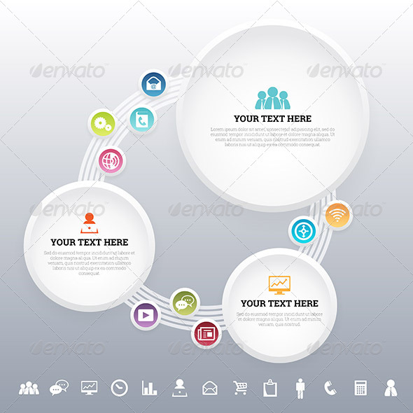 App Media Concept Background - Infographics