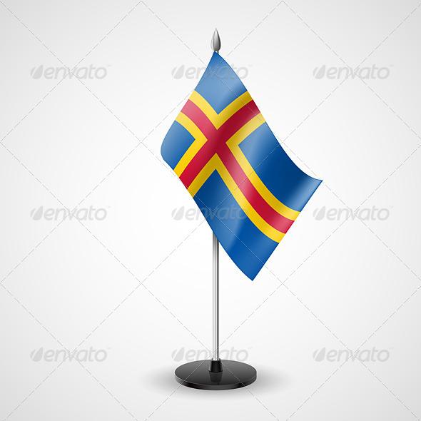 Table Flag of Aland Islands - Miscellaneous Vectors