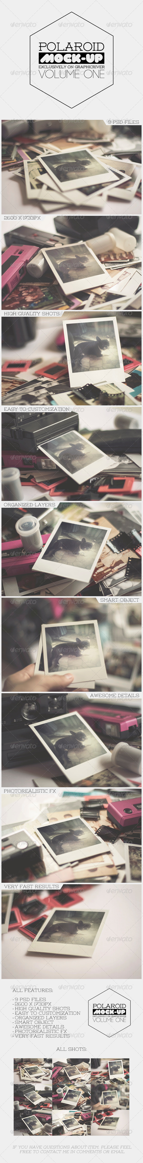Old Polaroid Photo Frame Mock-Up Vol.1 - Miscellaneous Product Mock-Ups