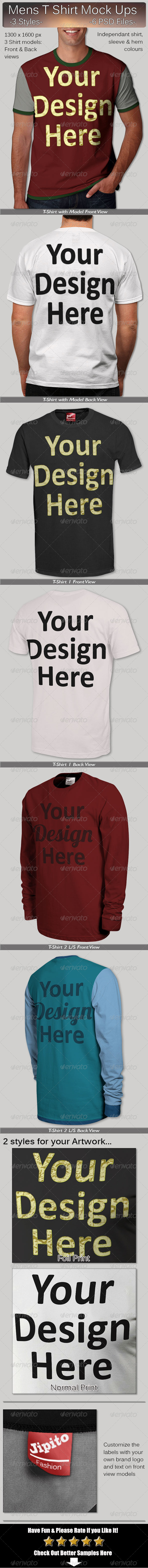 Mens T Shirt Mock Ups - T-shirts Apparel