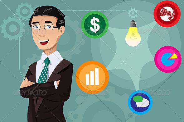 Businessman Having an Idea Concept - Concepts Business
