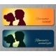 Banners with Silhouettes of Kissing Couple - GraphicRiver Item for Sale
