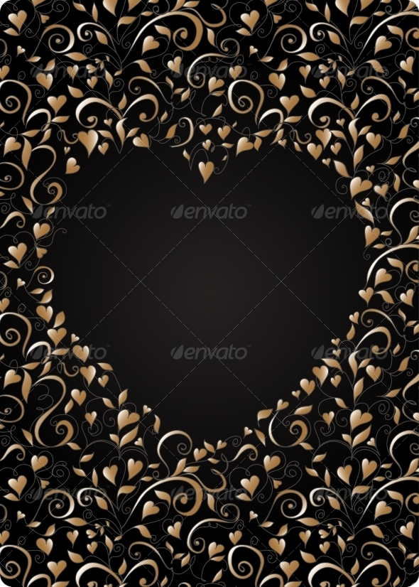 Heart-Shaped Frame - Backgrounds Decorative