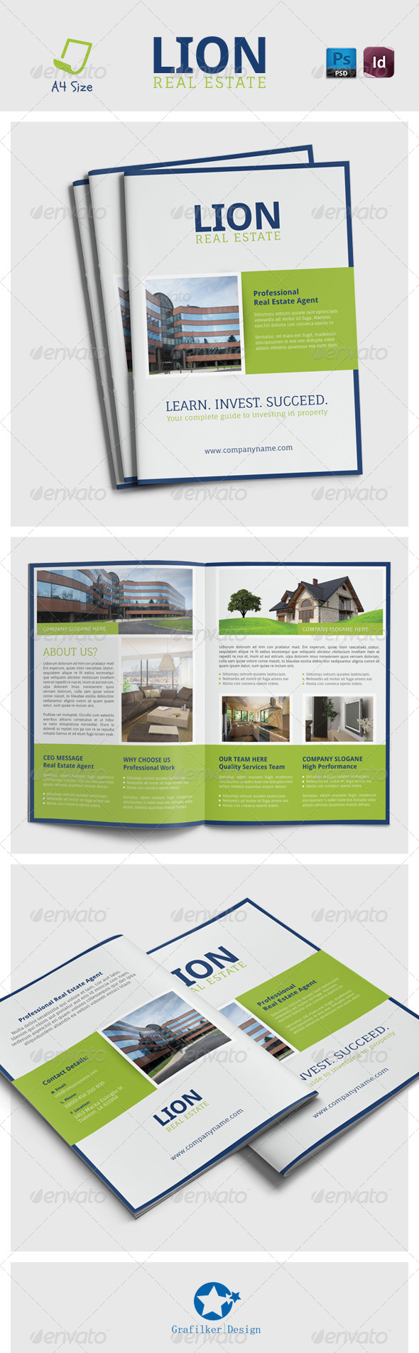 Real Estate Brochure Templates - Brochures Print Templates