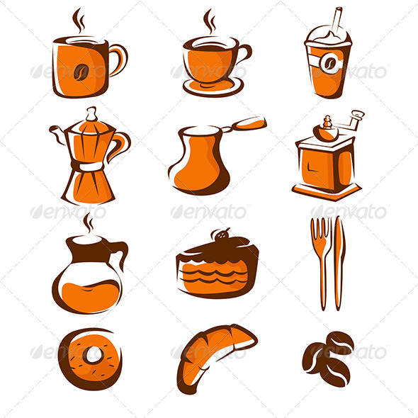 Coffee Icons - Objects Vectors