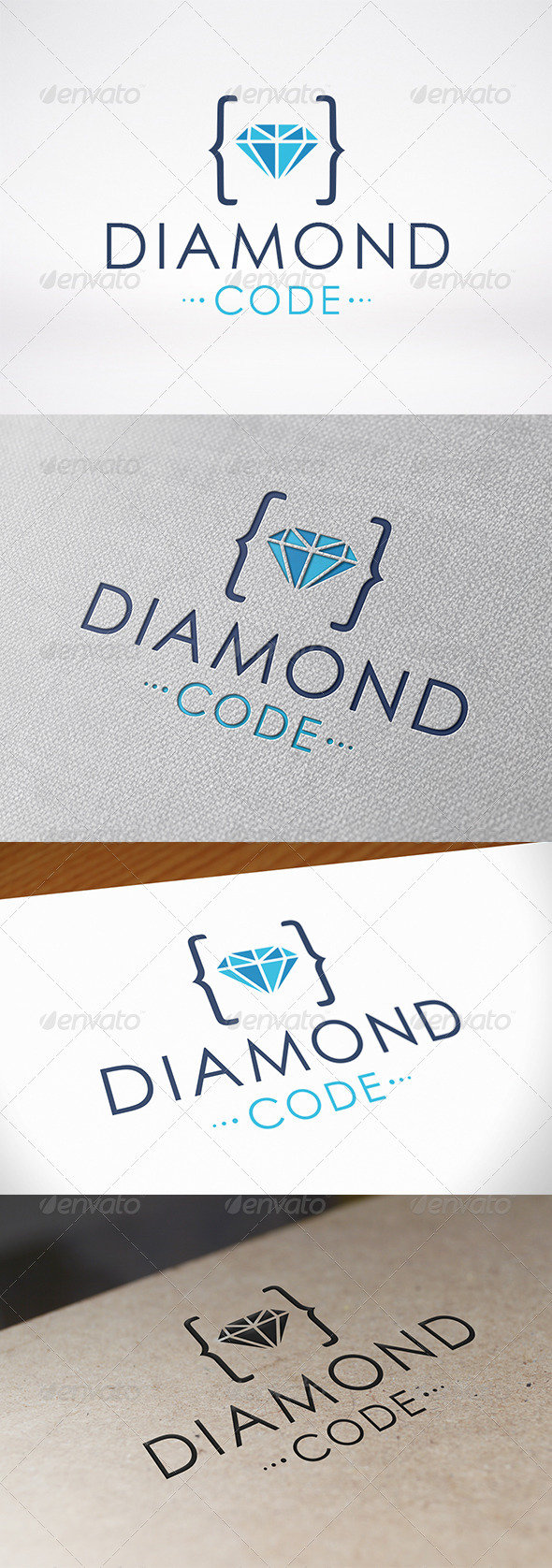 Code Diamond Logo Template - Symbols Logo Templates