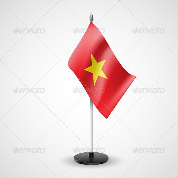 Table Flag of Vietnam - Miscellaneous Vectors
